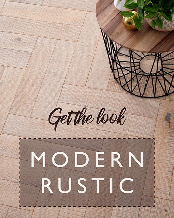 den moderna rustika trenden