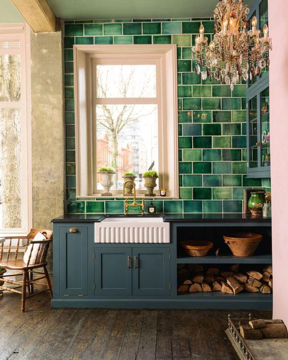 Färgglada kök för hemdesign 2018