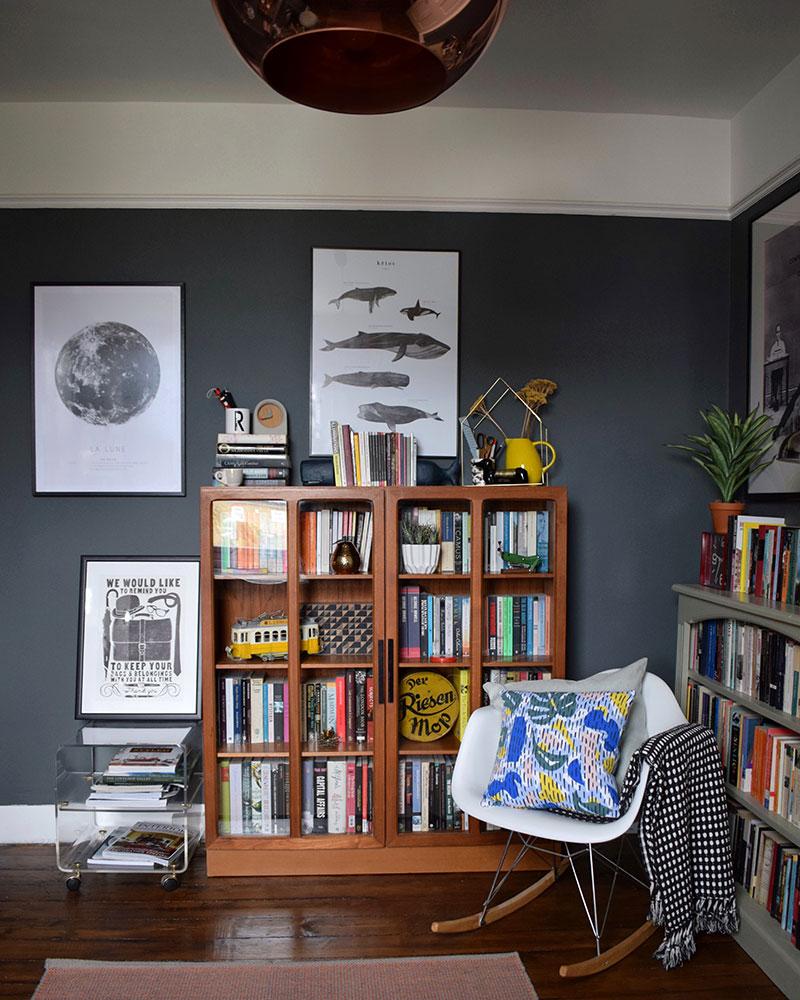 dark interior style wood