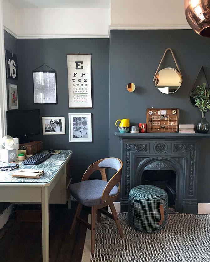 modernist home office