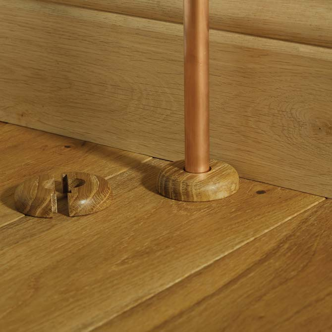 solid wood pipe covers