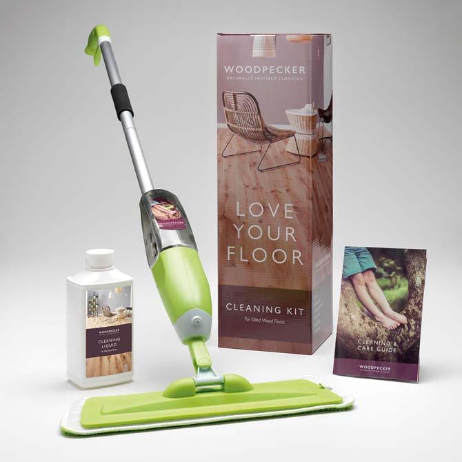 cleaning kit for oiled floors
