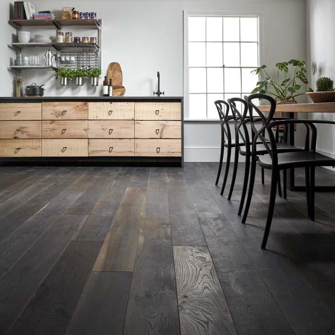 distressed oak floor