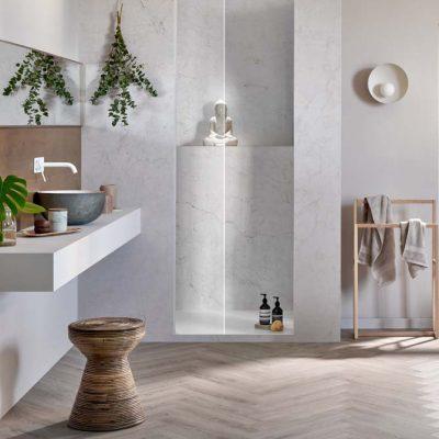 brecon bathroom flooring herringbone