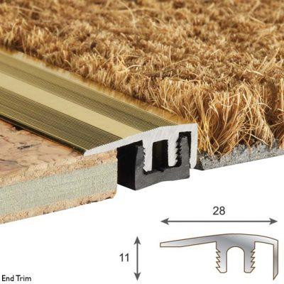 end metal flooring trim