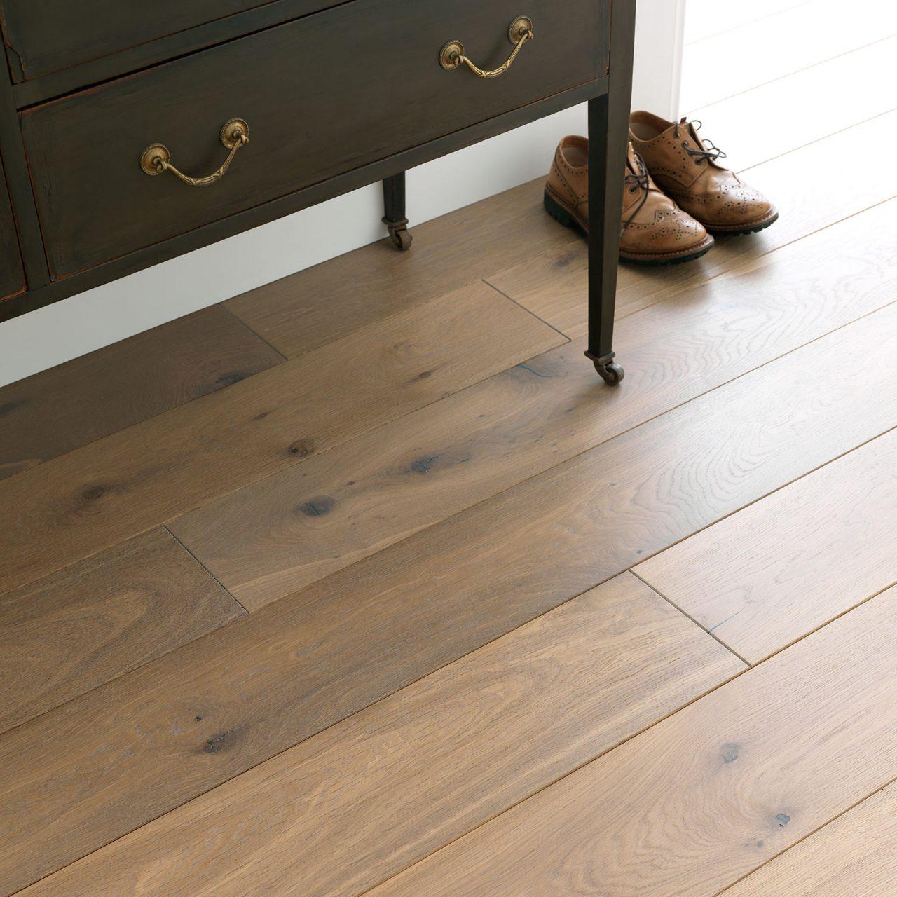 Chepstow washed Oak. Engineered hardwood flooring