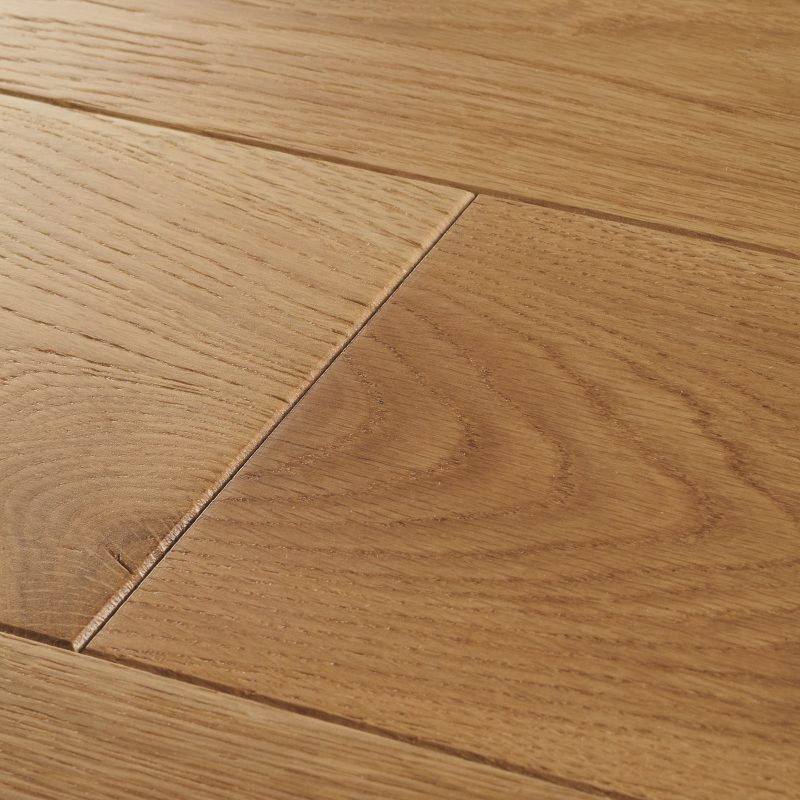 Solid wood flooring in natural tones