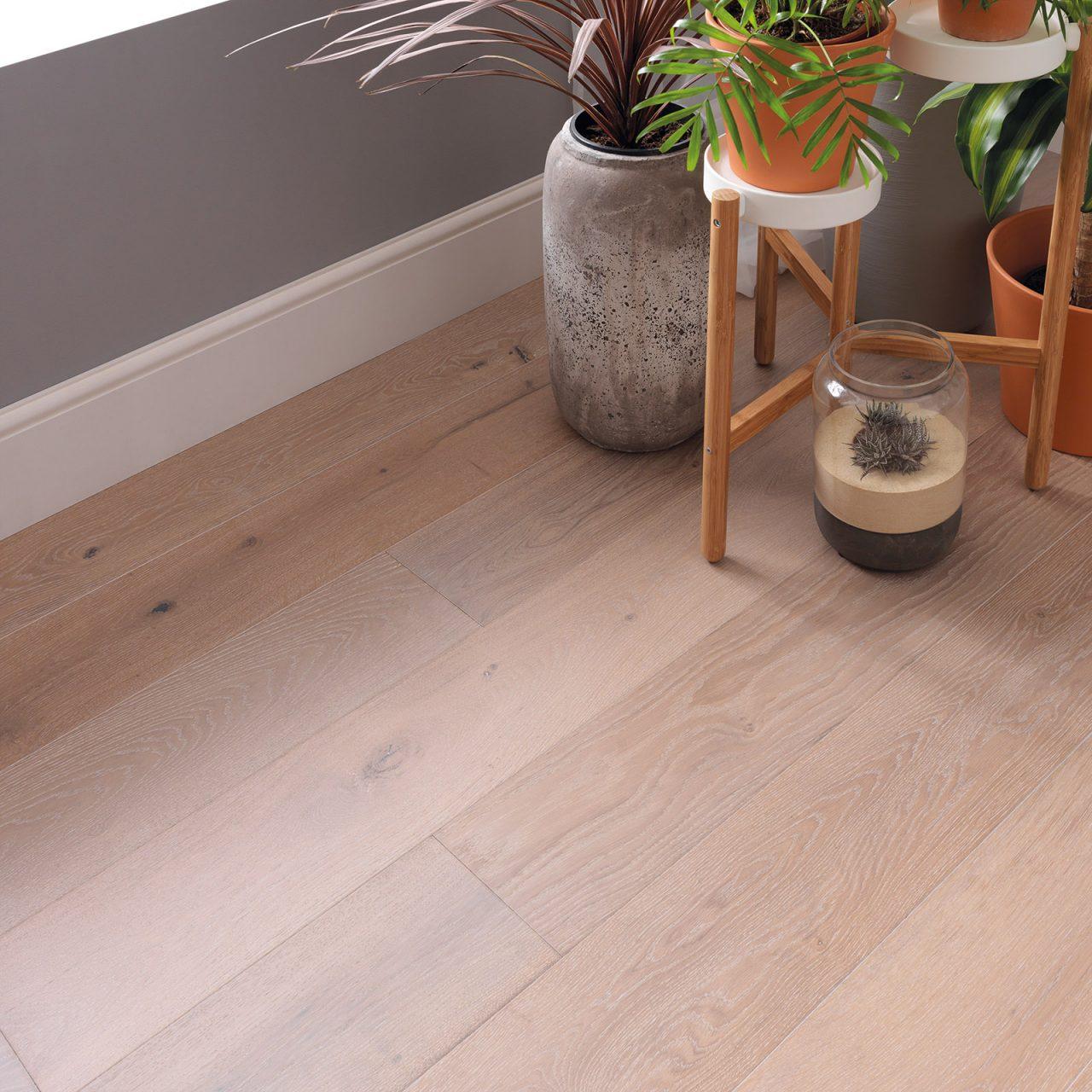 engineered wood flooring in sandy colors