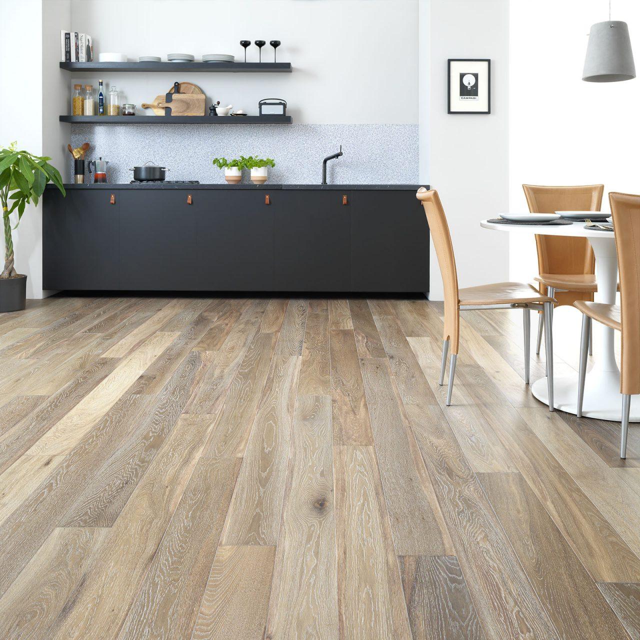 Beautiful kitchen with engineered hardwood flooring