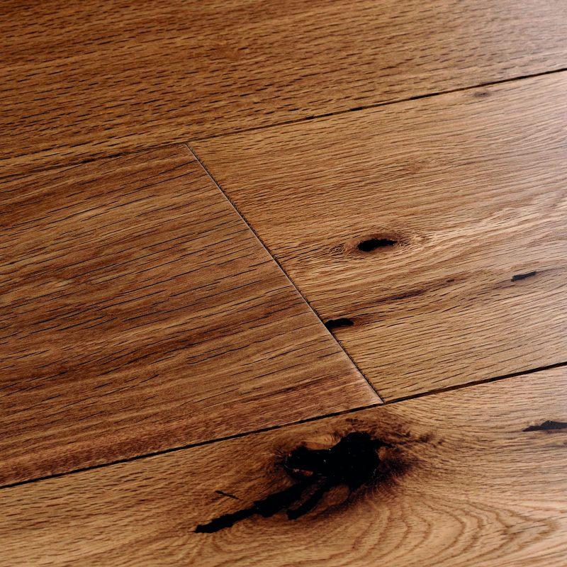 Engineered wood flooring. Harlech smoked Oak