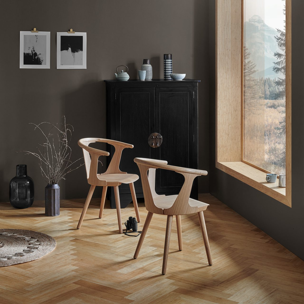 Bamboo herringbone flooring