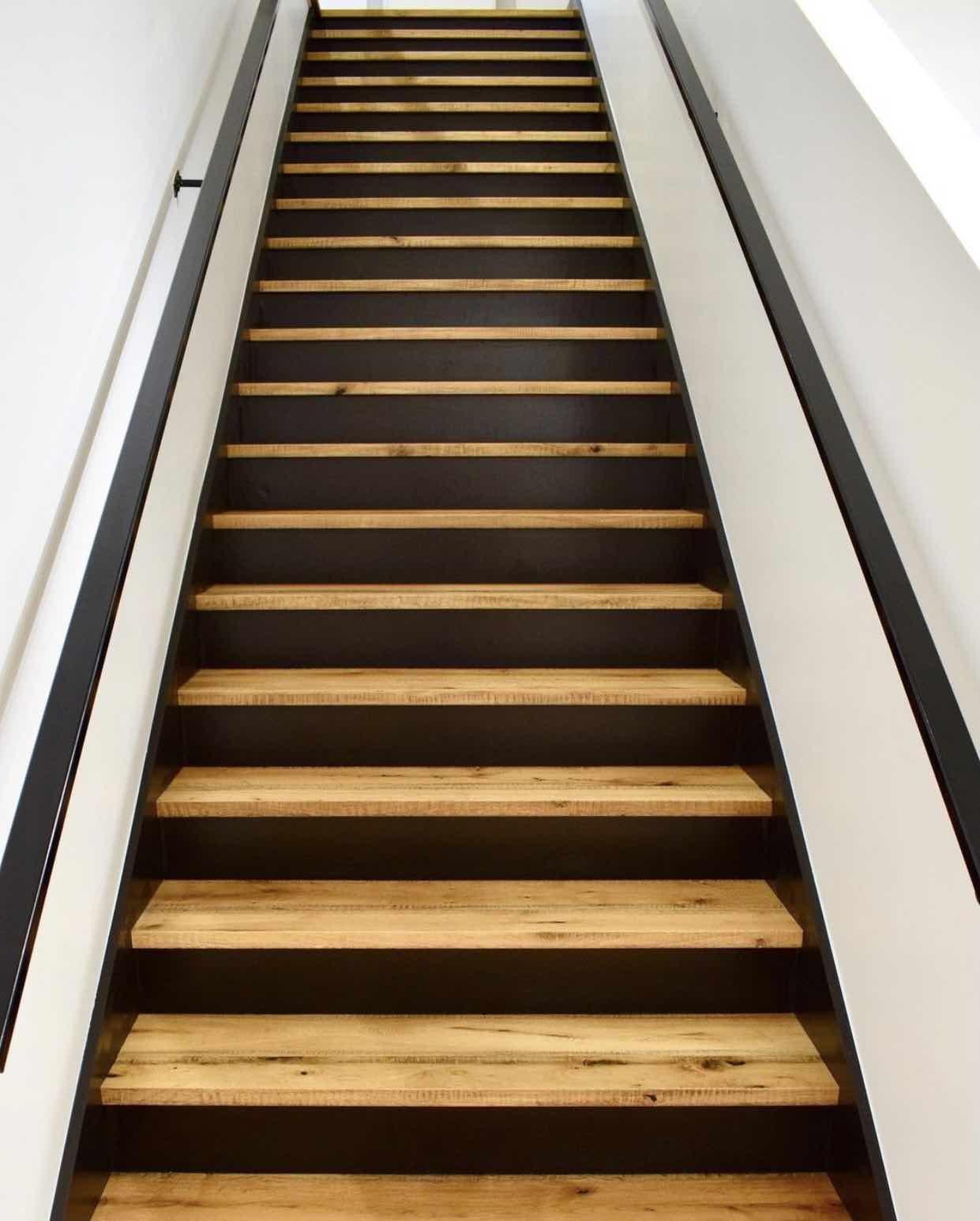 Berkeley Cottage. Hardwood flooring stairs